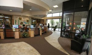 The interior of the Pacific Cascade Federal Credit Union in Santa Clara