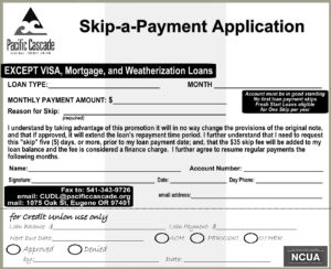 Skip A Payment Form