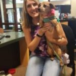 PCFCU employee Melanie and her dog Oliver