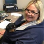 PCFCU employee Tracy and her dog Zoey on Dog Day 2018