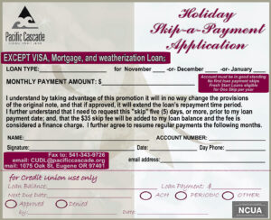 Holiday Skip a Payment