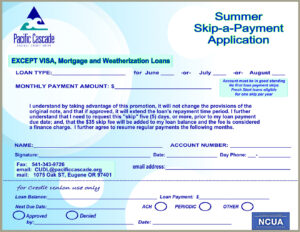 Summer Time Skip A Payment Certificate
