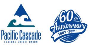 Pacific Cascade FCU 60th Anniversary logo